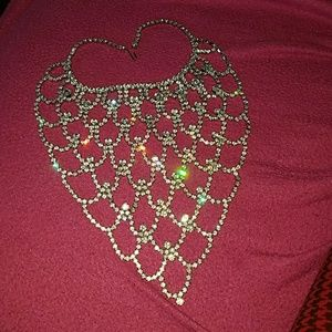 Fabulous rhinestone vintage big bib necklace